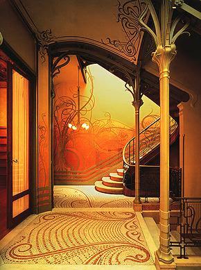 Beards and barnacles art nouveau for Art nouveau interior design bedroom