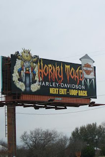 Road Sign: Harley Davidson Horny Toad