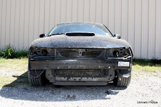 2002 Ford Mustang Front View wrecked