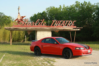2000 Red Ford Mustang GT at Starlite Drive-in Theater
