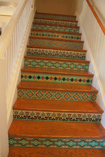 Stairs with Tile Accents
