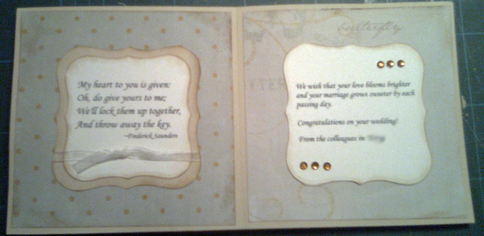 Scrap og kort blog: Bryllupskort