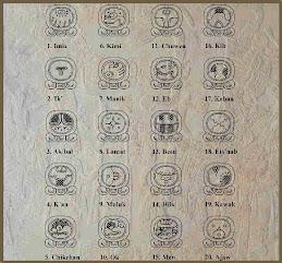 Οι ενέργειες των 20 ημερών του κάθε μήνα / Der MayanKalendar auf Deutsch