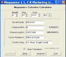 Πρόγραμμα για να υπολογίσετε την γεννέθλια ημέρα σας στο Τζόλκιν ημερολόγιο των Μάγιας