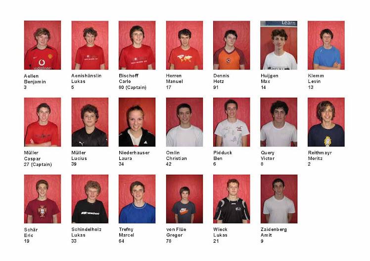 Die Schweizer Junioren Nationalmannschaft