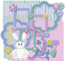 Spring..Bunny,flowers made by me..