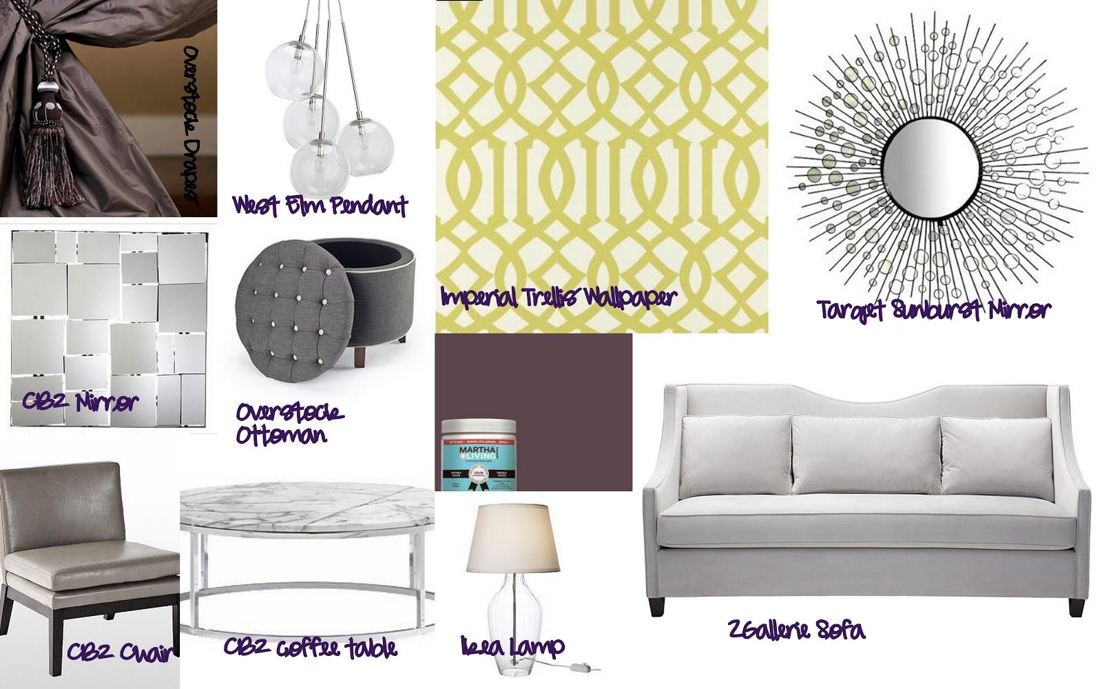 Home Decor Budgetista: Living Room Mood Board