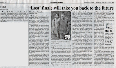 Newspaper Article on the Finale