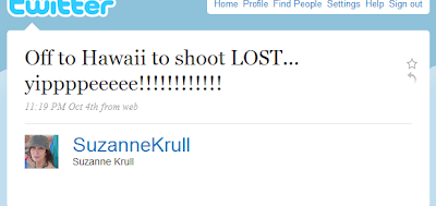 Thanks to Annie for the heads up that Suzanne Krull is off to Hawaii to shoot  Hurley's Fortune Teller back