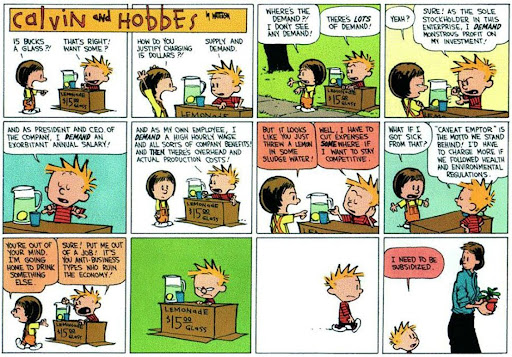 The US Economy as predicted by Calvin and Hobbes