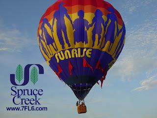 Hot Air Balloons land at Spruce Creek