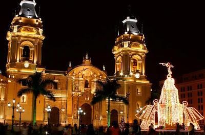 Catedral de Lima en Navidad