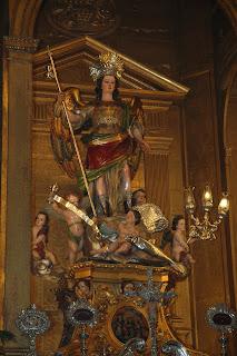 Imagen de San Rafael de la iglesia del Juramento