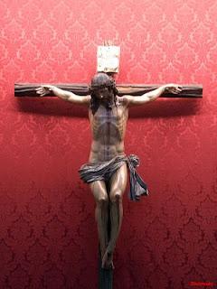 Fotografía del Stmo. Cristo de la Luz. Jesús agoniza en la cruz