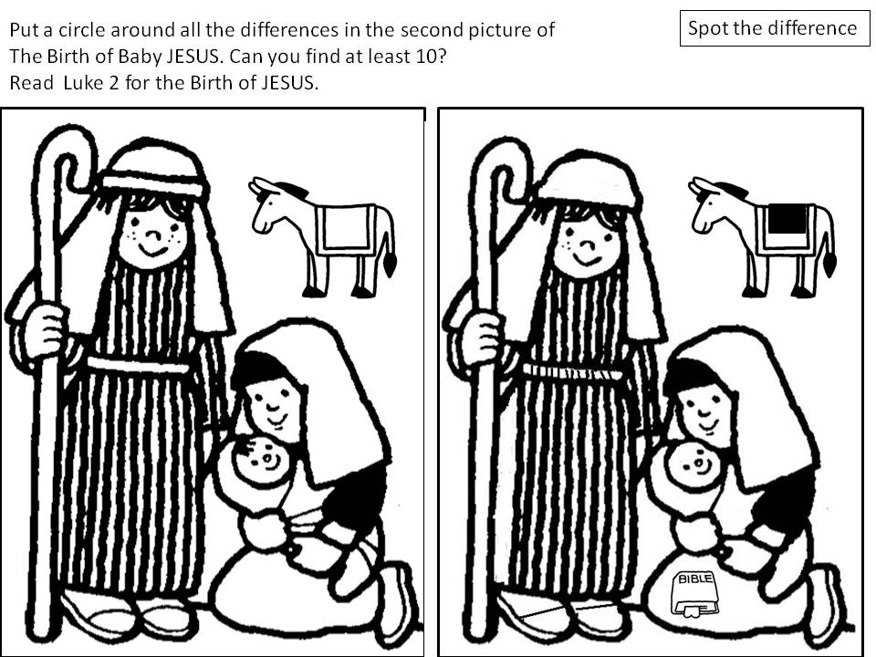 Printable Bible Spot the Difference