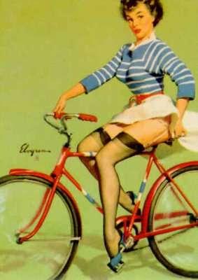 Pin-ups et bagnoles (le vrai truc de mec) Pinup_bicycle