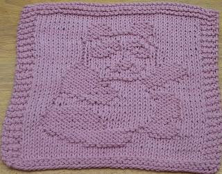 Panda Bear Knitting Pattern : DigKnitty Designs: Panda Bear Knit Dishcloth Pattern