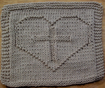 Free Knitting Patterns For Baby Clothes : DISHCLOTH KNIT PATTERN HEART Free Knitting and Crochet Patterns