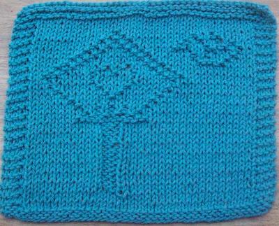 DigKnitty Designs: Bird House Knit Dishcloth Pattern