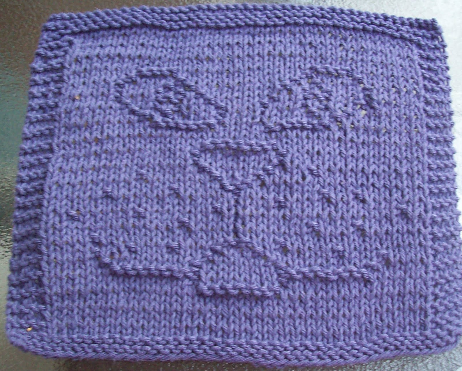 Knitted Dishcloth Patterns : DigKnitty Designs: Cat Face Knit Dishcloth Pattern