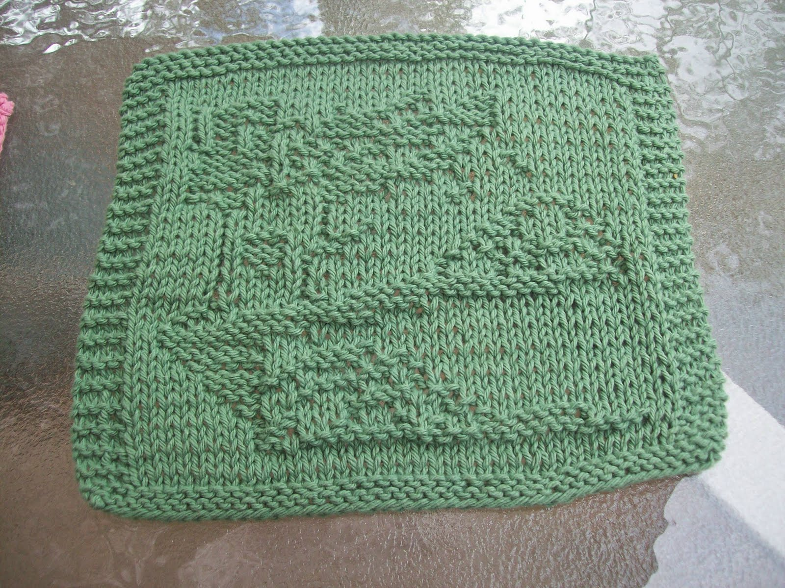 DigKnitty Designs: Piles Of Leaves Knit Dishcloth Pattern
