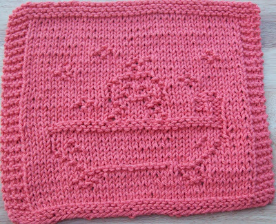 Knitted flower washcloth - Canadian Living