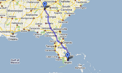 atlanta to miami google map