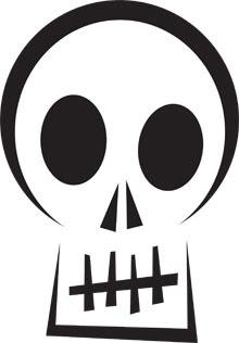 Massif image within skeleton stencil printable