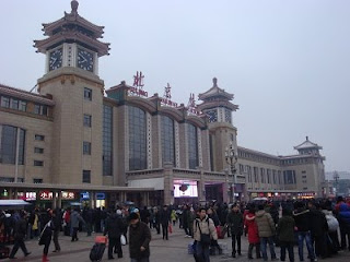 An early Sunday morning at the Beijing Railway Station - February 2010
