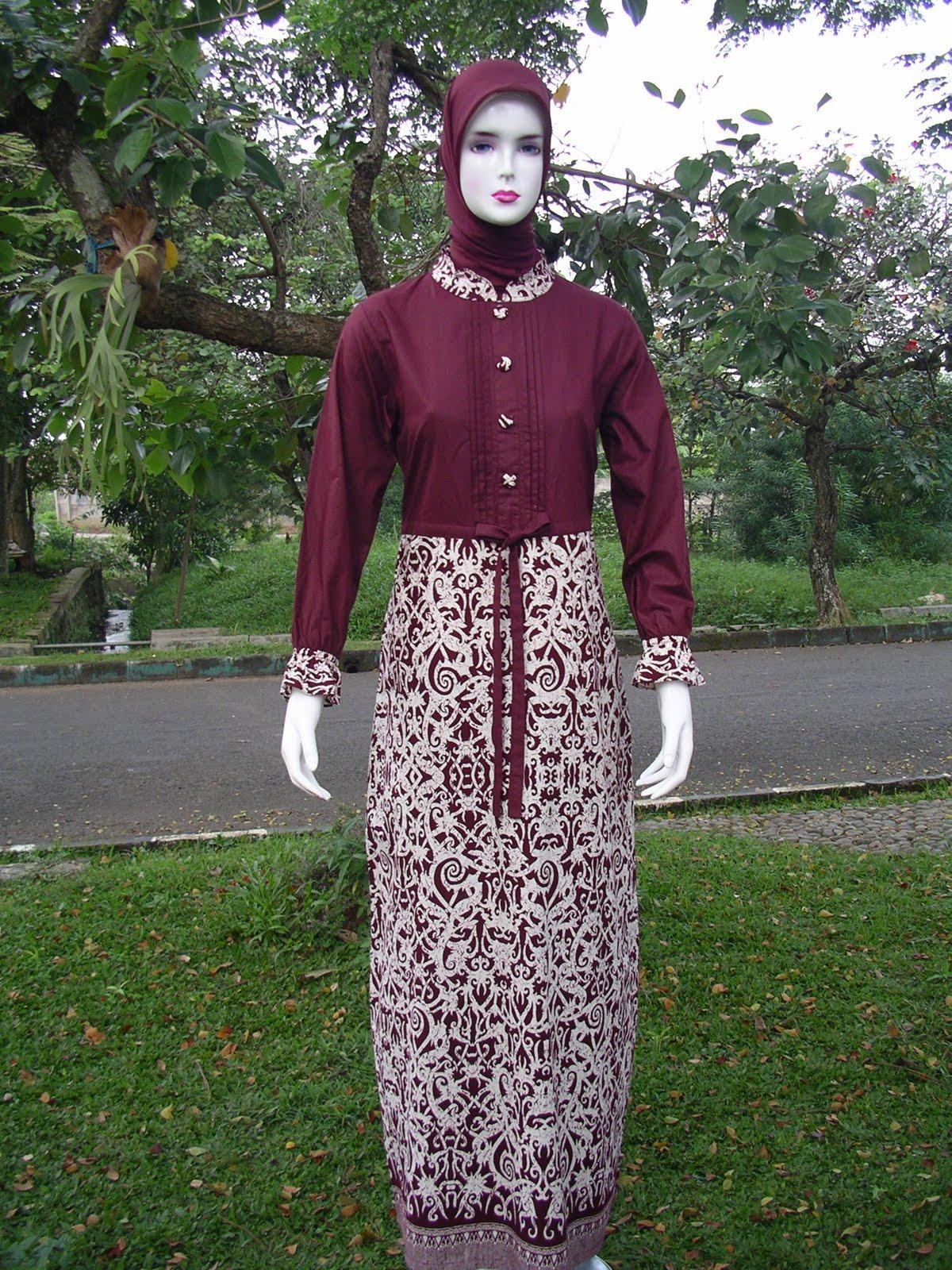 Gamis Batik Dengan Bahan Katun Cantik Dan Nyaman World Baby