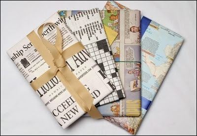 Bundles of Blossoms Blog- An Entrepreneur's Daily Dose of Reality: Newspaper Gift Wrapping & A Cute Little Story