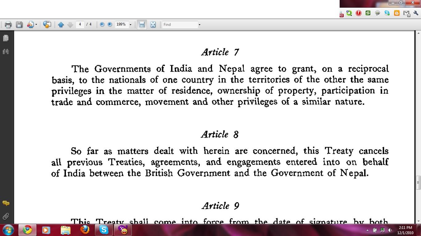 Treaty Of Peace And Friendship 1950 Nepal A Journey