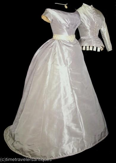 gtdressgasm of the day 1880s violet wedding dress