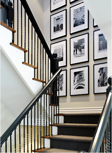 Gallery Wall On Stairs