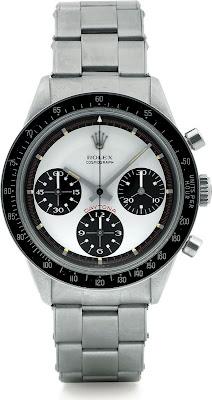 Montre Rolex Cosmograph Daytona Paul Newman Ref 6241 Cadran blanc