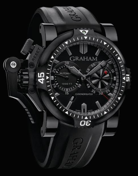 j 39 aime les montres la montre du jour graham chronofighter oversize diver deep black. Black Bedroom Furniture Sets. Home Design Ideas
