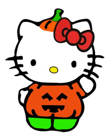 Creating in carolina hello kitty pumpkin costume freebie - Hello kitty halloween ...