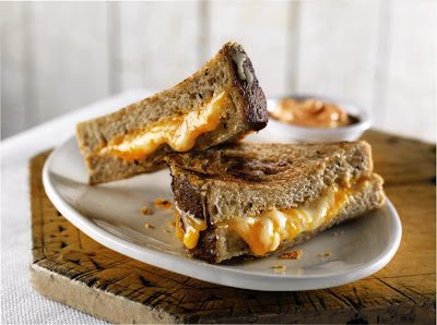 grilled cheese with spicy dipping sauce Join The Real Food Movement!