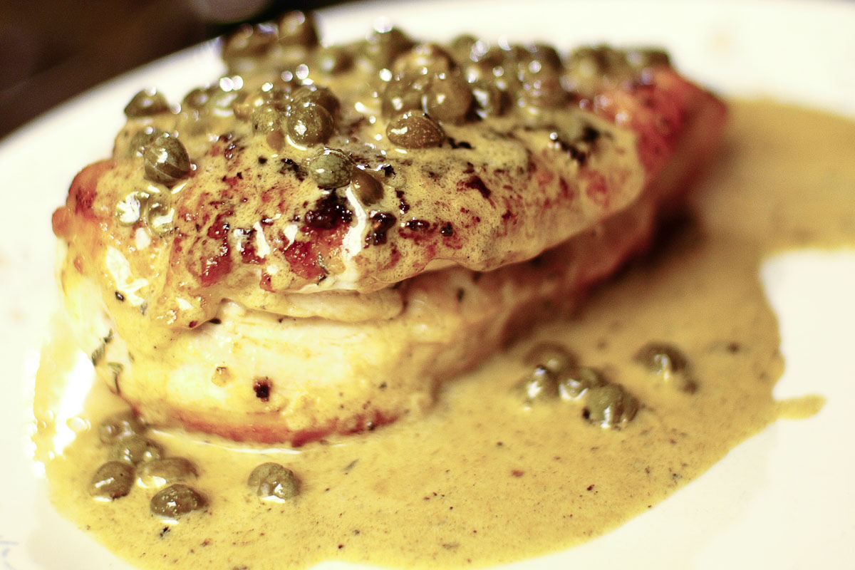 ... Chronicles: Chicken Breast with White Wine Cream Sauce and Capers