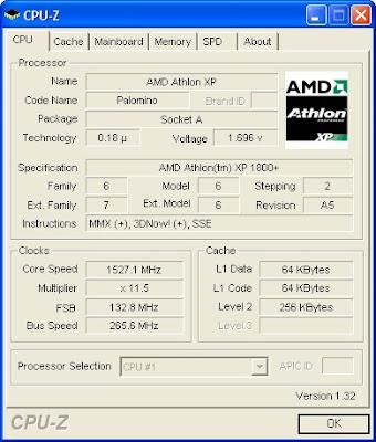 Screenshot CPU-Z