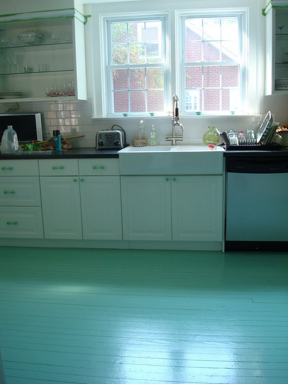Painted Floor Awesome Of Painted Wood Floors Kitchen Photos