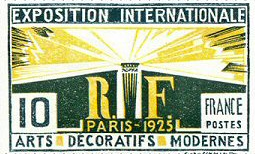 French Stamps Art Deco Custom Stamp Art