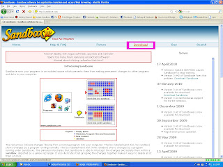 Download Sandboxie di Sandboxie.Com