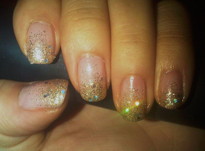 The Exciting Simple holiday nail designs gold Picture