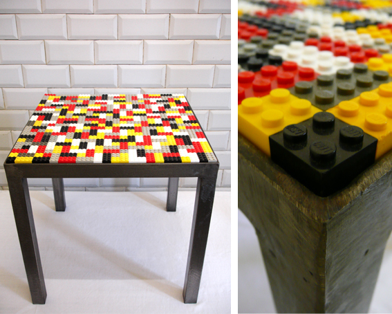 les traficoteuses table basse carr e lego. Black Bedroom Furniture Sets. Home Design Ideas