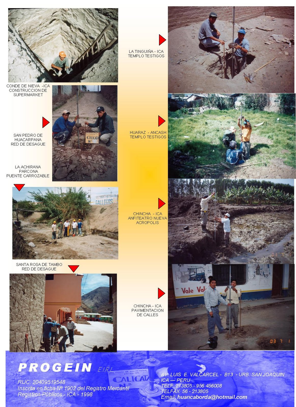 ALGUNOS PROYECTOS Y ESTUDIOS    REALIZADOS    A    NIVEL    NACIONAL