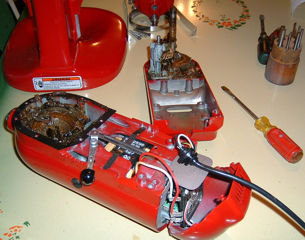 broken kitchenaid mixer repair detailed instructions save money