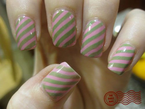 preppy in pink - daily nail