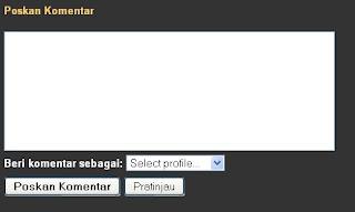 kotak komentar blogger