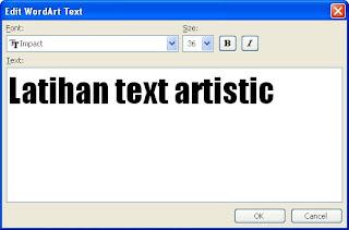 ketik teks artistik